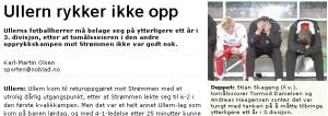 Faksimilie fra Ullern avis etter opprykk