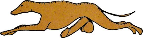 Greyhoundslogo som pepperkake