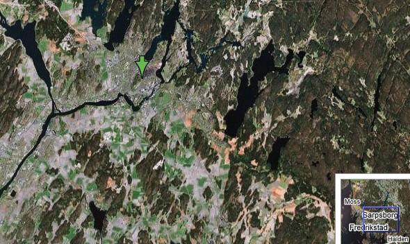Satelittbilde Sarpsborg